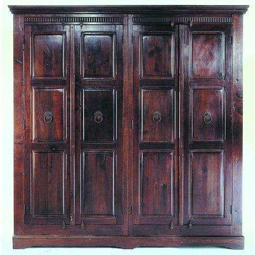 Colonial Cabana Szafa 4-drzwiowa z Drewna Topolowego 211x204cm (2147), Kare Design