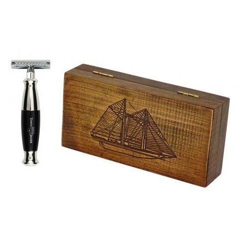 Margo Zestaw retro żaglowiec - maszynka ej z czarną rączką, w drewnianym pudełku