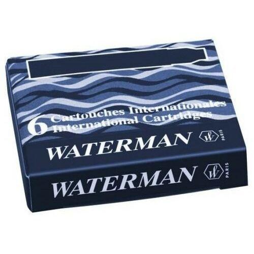 Naboje Waterman Krótkie Czarny (6szt.) (3034325201191)