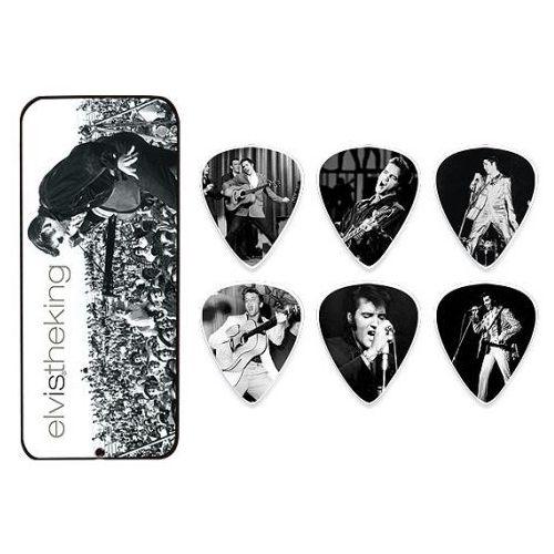 elvis presley king pick tin, zestaw kostek gitarowych, medium marki Dunlop