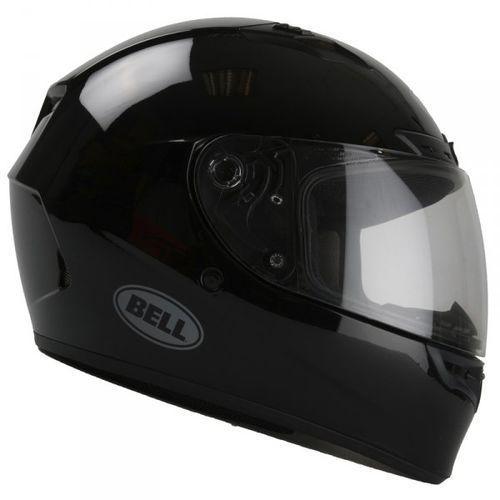 qualifier dlx solid gloss black kask integralny marki Bell