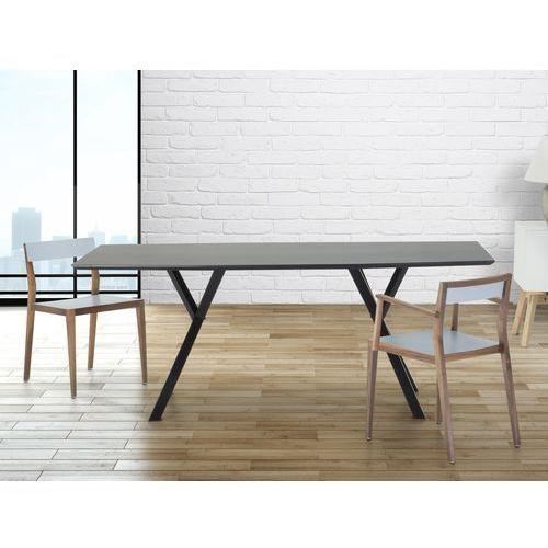 Stól do jadalni, kuchni, salonu - 180 cm - czarny - LISALA - produkt z kategorii- stoły kuchenne
