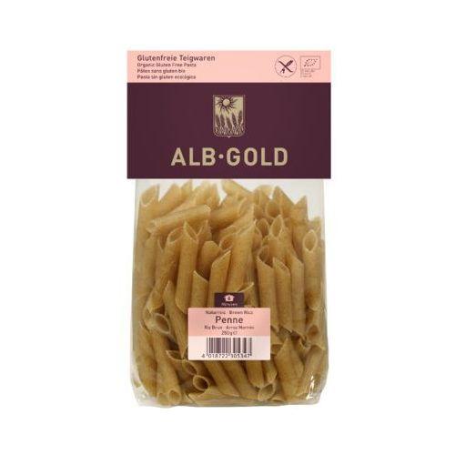 250g makaron ryżowy razowy penne bezglutenowy bio marki Alb-gold