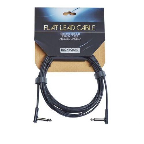 flat kabel instrumentalny, black, 300 cm, angled/angled marki Rockboard