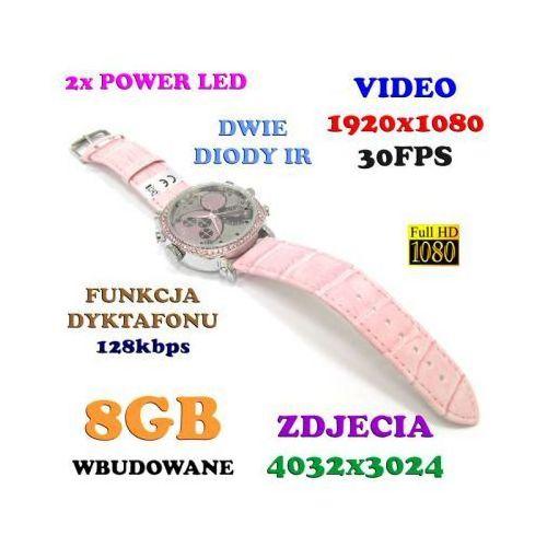 Szpiegowski damski zegarek na rękę fhd (8gb), nagrywający dźwięk i obraz + rejestrator dźwięku +... marki Spy elektronics ltd.