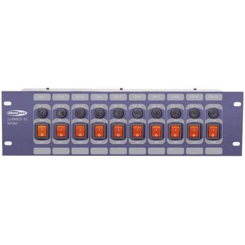 Showtec DJ Switch 10F panel