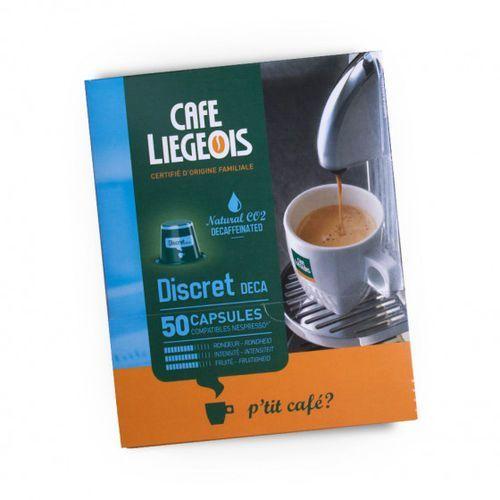 "Kawa w kapsułkach ""discret deca"", 50 szt. marki Café liégeois"