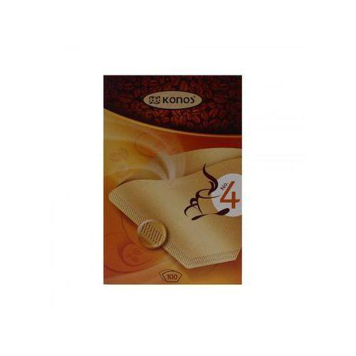 Filtry do kawy konos rozmiar 4 100 szt. marki Scanpart