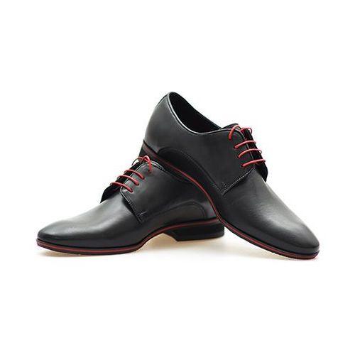 Pantofle Conhpol 3838 Czarne+ czerwony