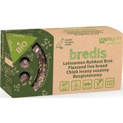 Chleb lniany suszony o smaku cukini bezglutenowy bio 70 g - papagrin marki Papagrin (przekąski raw)