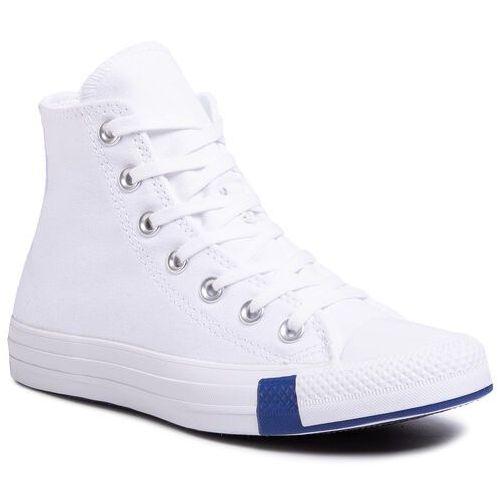 Converse Trampki - ctas hi 166735c white/rush blue/ro