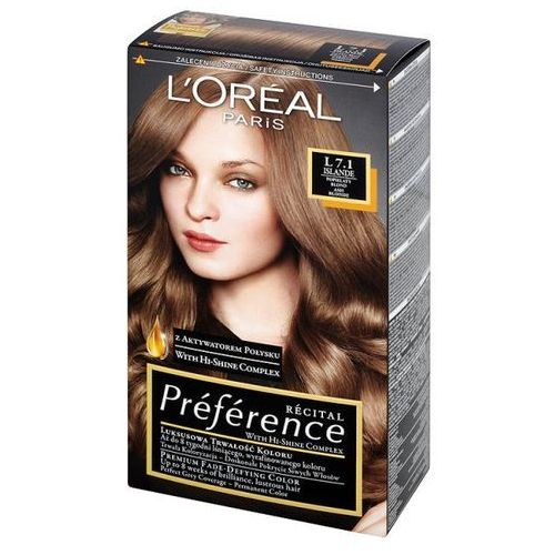 L'Oréal Farba do włosów Recital Preference - L 7.1 Islande, L'Oréal