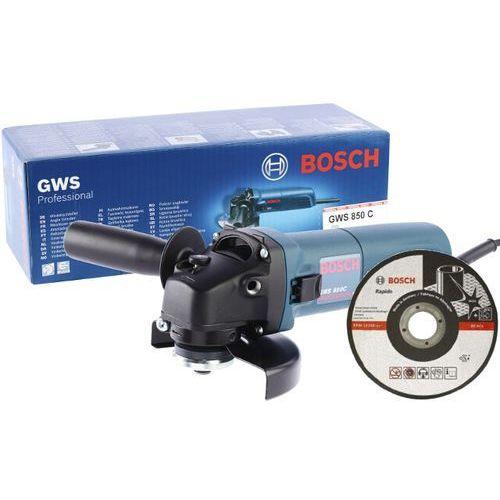 Szlifierka kątowa 850 W 125 mm GWS 850C, 601377791 + tarcza tnąca D125X22,2mm X1 RAPIDO Bosch - produkt dostępny w NEXTERIO