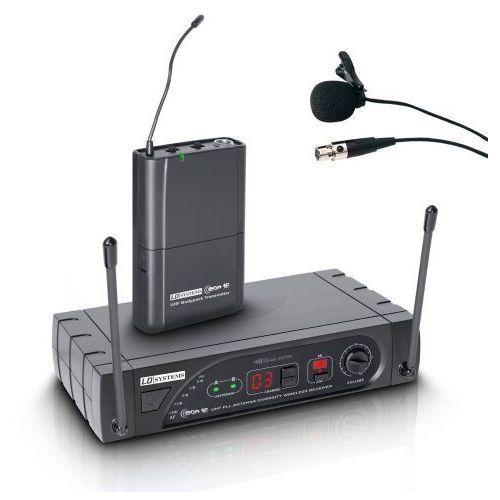 LD Systems ECO 16 BPL bezprzewodowy system mikrofonowy z nadajnikiem bodypack i mikrofonem przypinanym, 16-kanałowy