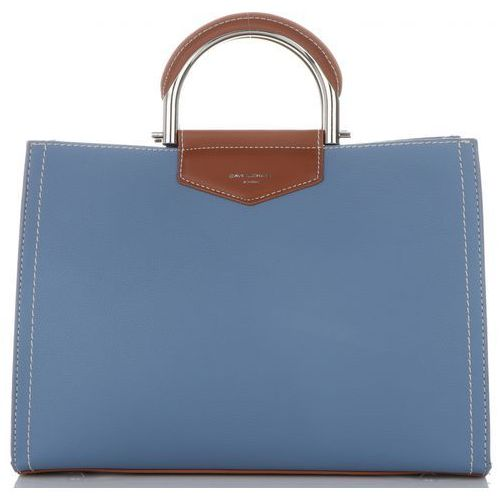 8e18d0ee8616b Firmowe Torebki Damskie David Jones klasyczny i pojemny Kuferek w kolorze  Niebieskim (kolory)