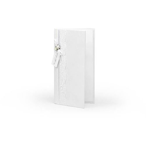 Ap Etui na pieniądze białe z białymi różyczkami - 1 szt.