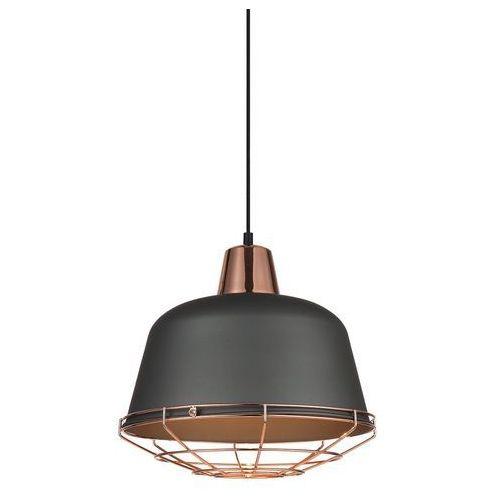 Italux Lampa wisząca annika 1 x 60 w e27 szara/miedź
