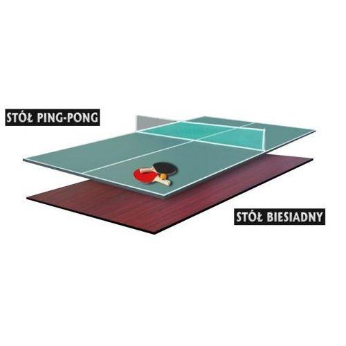Dwustronna nakładka na stół bilardowy - ping pong / biesiadna 7ft marki Hop sport