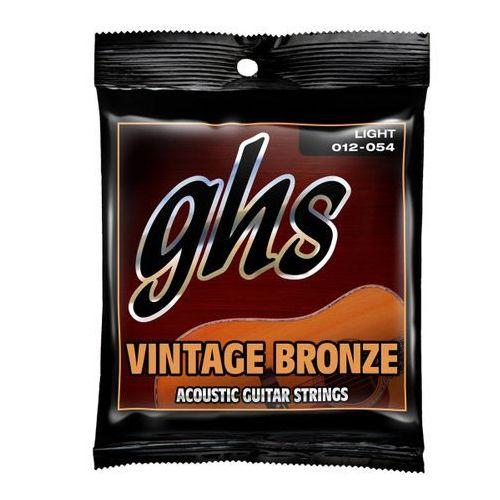 Ghs vintage bronze struny do gitary akustycznej, light,.012-.054