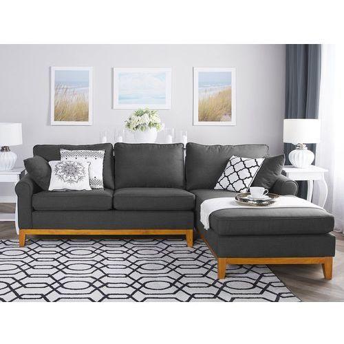 Narożnik ciemnoszary - kanapa - sofa - narożna - wypoczynek - NEXO, kolor szary
