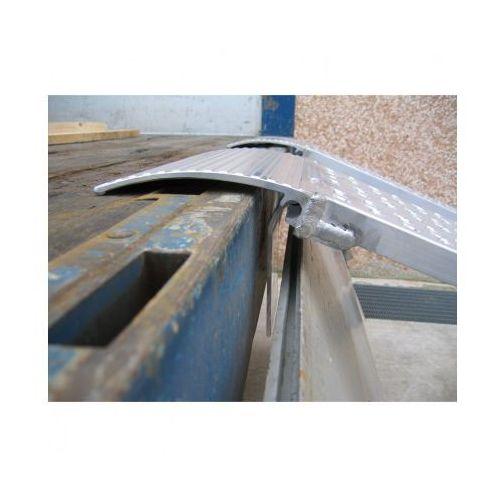 Rampa najazdowa prowadząca dla minimalnej szerokości koła lub taśmy 300 mm