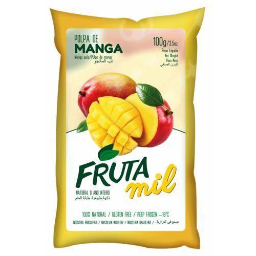 Mango naturalny miąższ (puree owocowe, pulpa, sok z miąższem) bez cukru 2kg marki Frutamil comércio de frutas e sucos ltda