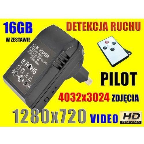 MINI UKRYTA KAMERA SZPIEGOWSKA HD720 +PILOT +16GB (kamera monitoringowa)