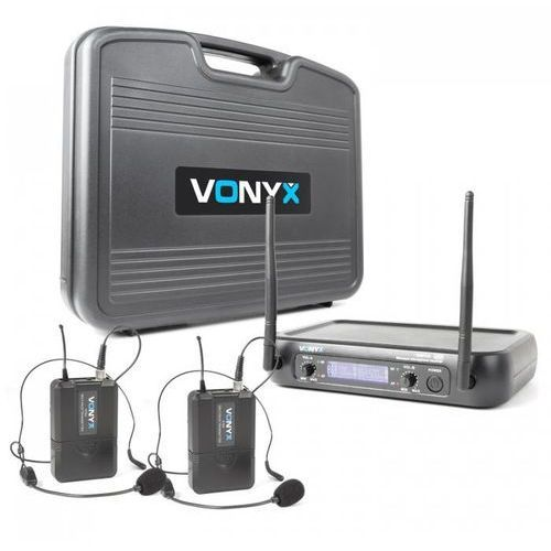 Wm73h 2-kanałowy zestaw mikrofonów bezprzewodowych uhf marki Vonyx