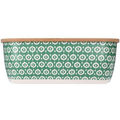 Eh excellent houseware Zielony chlebak z deską do krojenia, bambus, 2w1