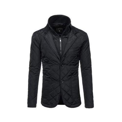 Kurtka męska przejściowa elegancka czarna denley 3111 marki J.style