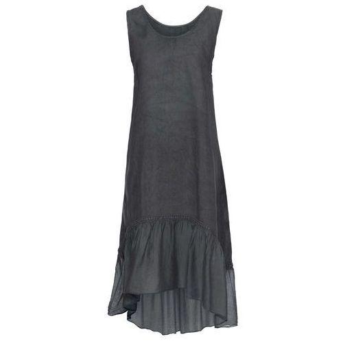 Sukienka dzianinowa bonprix ciemnoszaro-biały, kolor szary