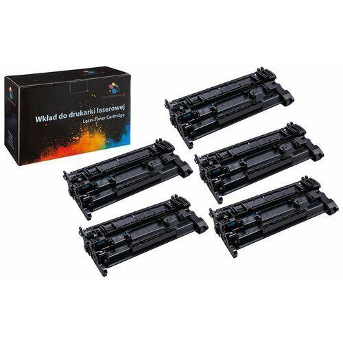Toner 5-pack zamiennik 5xDT26AH do HP LaserJet Pro M402 M402d M402dn M402n M426 M426dw M426fdn M426fdw MFP, pasuje zamiast HP CF226A 26A, 3100 stron