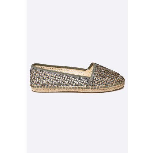 - espadryle glitter silver marki Buffalo