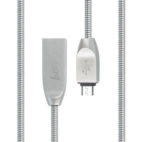 Kabel zinc micro usb srebrny marki Beeyo