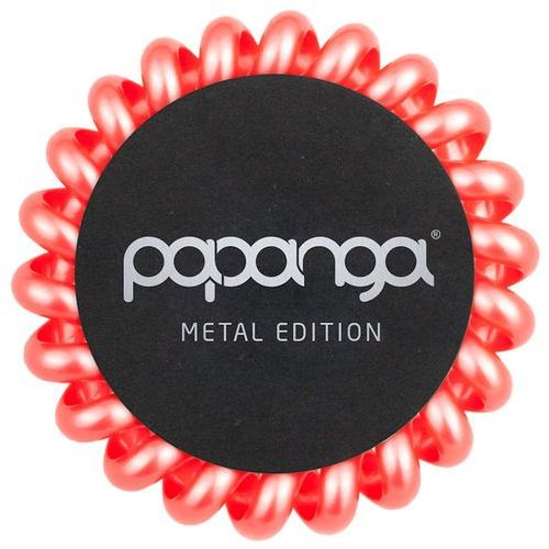 Papanga metallic coral big | elastyczna gumka do włosów (duża): metaliczny coral