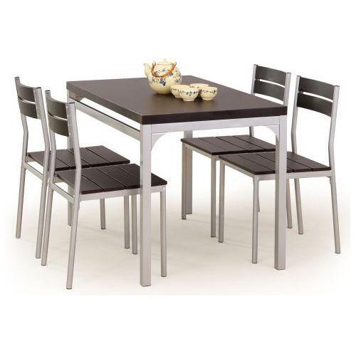 Stół z krzesłami torino - wenge marki Profeos.eu