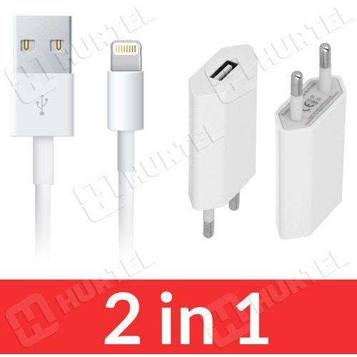 2w1 ładowarka + kabel USB lightning 8 pin iPhone 6 5S 5G 5 iPad 4 mini air z kategorii Kable, taśmy i przejściówki