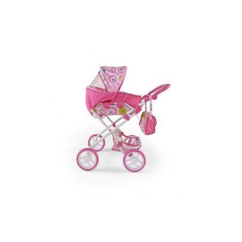 WÓZEK DLA LALEK PAULINA RÓŻOWO-BIAŁY #B1 - produkt z kategorii- wózki dla lalek