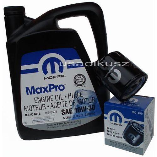 Oryginalny filtr oleju oraz olej 10w30 chrysler voyager marki Mopar