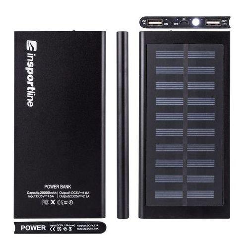 Powerbank z panelem słonecznym 20 000 mAh inSPORTline Inergymo LED