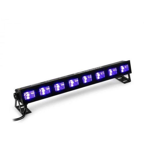 Beamz BUVW83 Listwa LED 8 x 3 W UV/o barwie ciepłej białej 2 w 1 30 W Plug & Play nie generuje hałasu (8715693308174)
