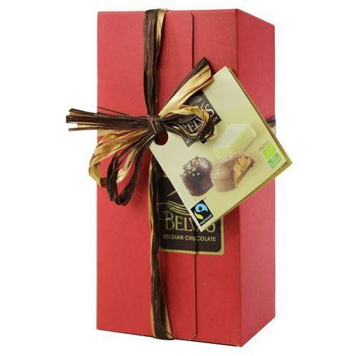Belgijskie czekoladki na prezent mix bezglutenowe fair trade bio 200 g - belvas marki Belvas (czekoladki)
