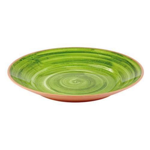 Talerz z melaminy imitujący terakotę o średnicy 405 mm, zielony | APS, La Vida