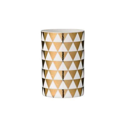 Świecznik na tealight małe złote trójkąty marki Bloomingville