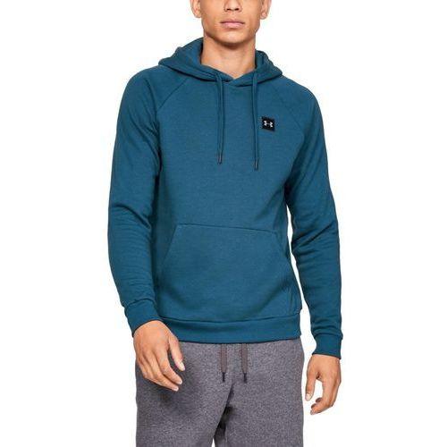 Under armour bluza z kapturem rival fleece po hoodie niebieska - niebieski
