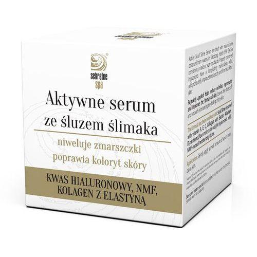 aktywne serum ze śluzem ślimaka aktywne serum ze śluzem ślimaka marki Sekretne spa