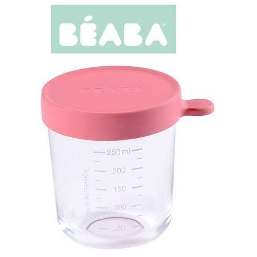 pojemnik słoiczek szklany z hermetycznym zamknięciem 250 ml dark pink marki Beaba