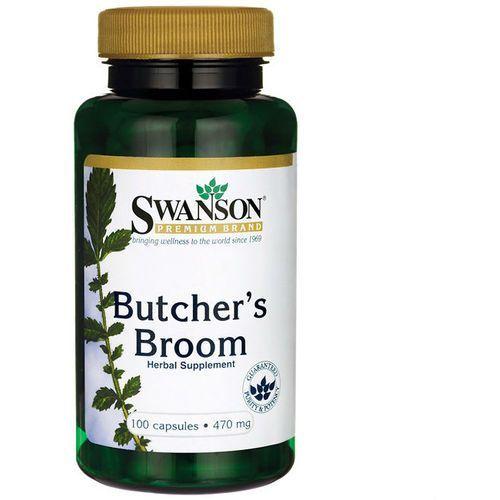 Butcher's Broom 470mg ruszczyk kolczasty 100 kapsułek Swanson (5902729732697)