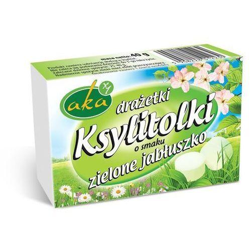Ksylitolki drażetki pudrowe zielone jabłuszko 40g b/c AKA