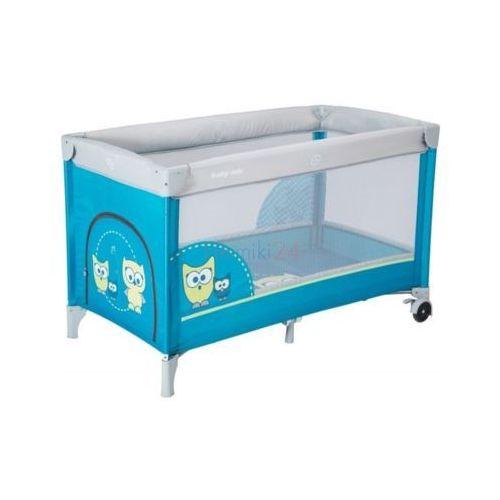 hr-8052-174 łóżeczko turystyczne jednopoziomowe sowa niebieska marki Alexis
